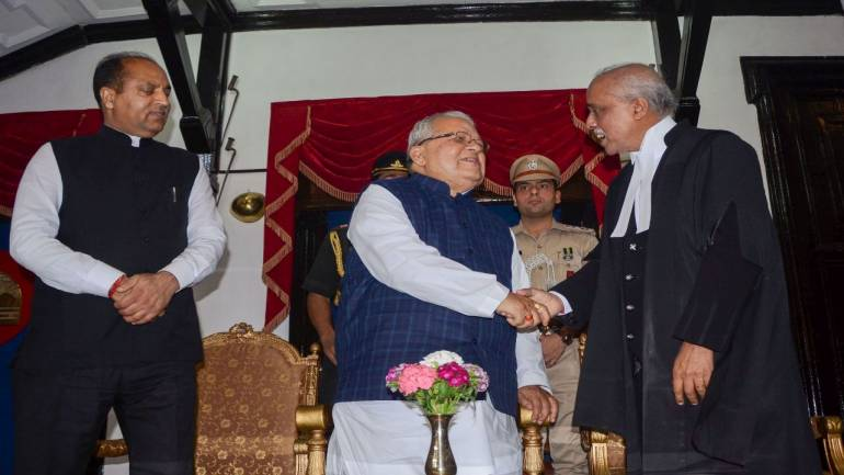 Kalraj Mishra sworn in as Himachal Pradesh governor
