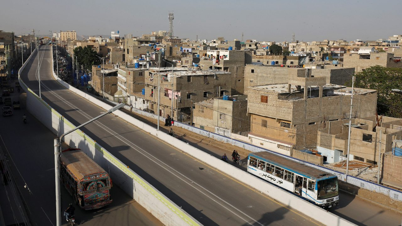 Karachi, Pakistan | Karachi is the capital of the Pakistani province of Sindh. It is the country's most populous city and its financial capital. Seen here: View of the Green Line Bus Rapid Transit System in Karachi. (Image: Reuters)