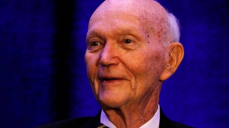 Apollo 11 astronaut Michael Collins returns to launch site ...