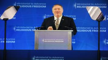Mike Pompeo calls China's treatment of Uighurs 'stain of the century'
