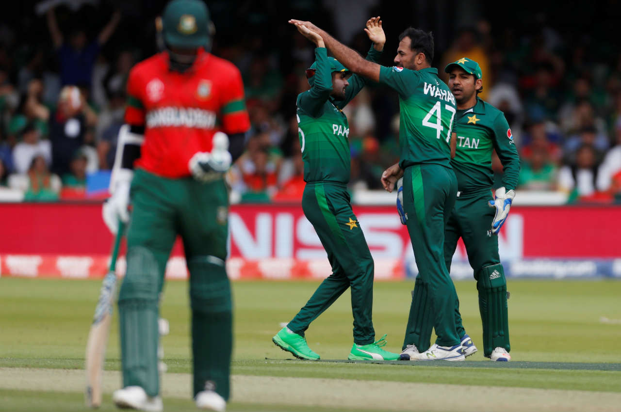 Mushfiqur Rahim scored 16 off 19 and was clean-bowled by Wahab Riaz in the 18th over as Bangladesh were struggling at 78/3. (Image: Reuters)