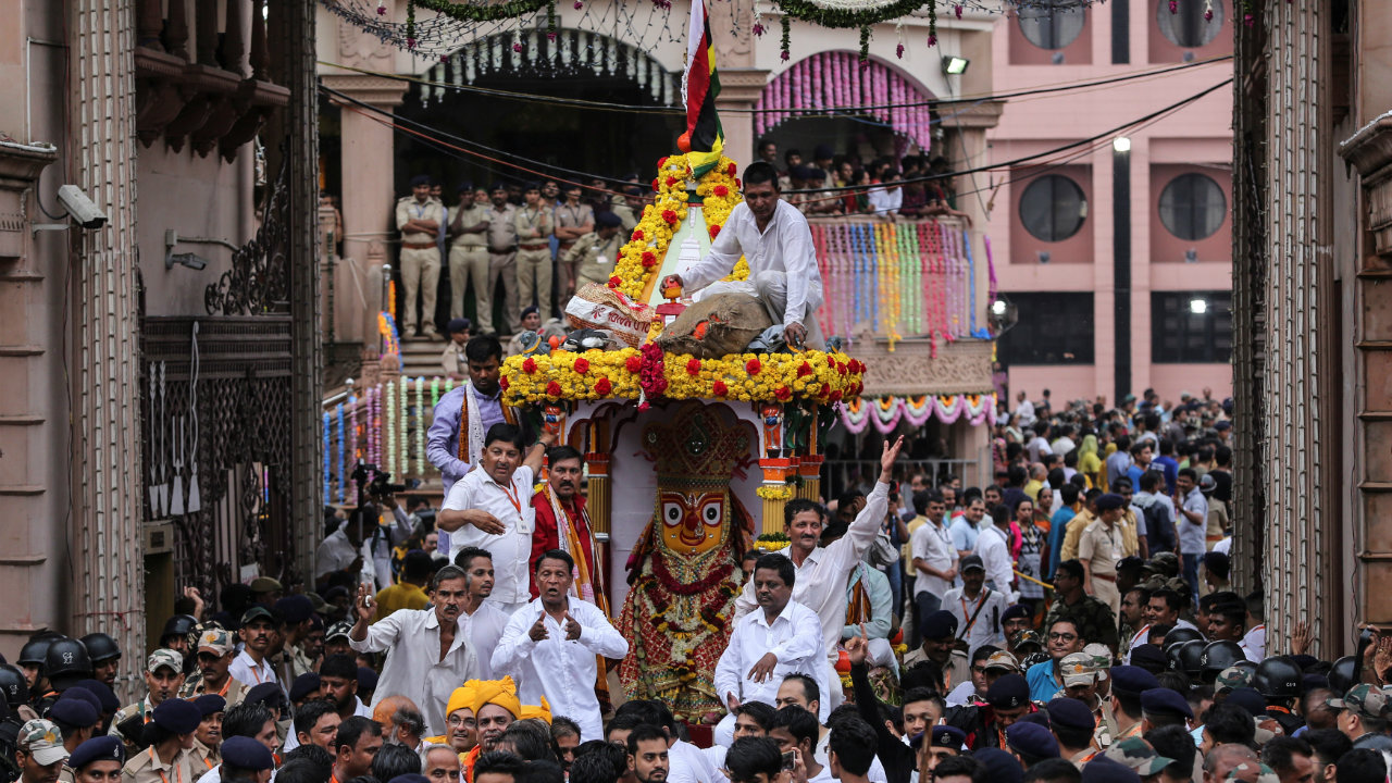 The about 450-year-old temple in Ahmedabad is famed for its Rath Yatra, which is counted among the third most important and largest after the Ratha Yatra at Puri. (Image: Reuters)