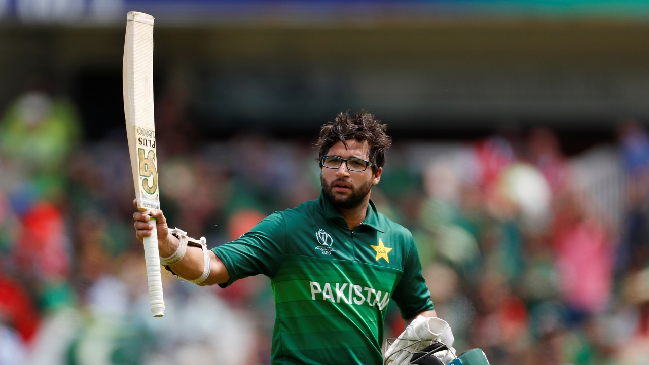 Imam though completed his century. The Pakistani opener reached his hundred on the third delivery of the 42nd over but was unfortunate to get out hit-wicket two deliveries later. Pakistan were 246/3 when Imam walked back to the pavilion. (Image: Reuters)