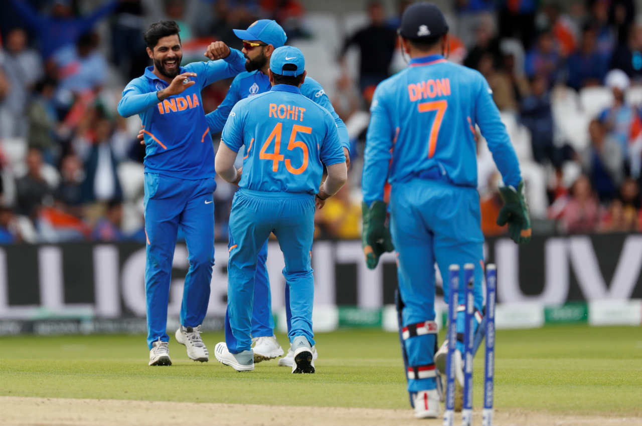 Back in the playing XI, Jadeja made his presence felt as he got Kusal Mendis stumped in the 11th over. Mendis made 3 off 13 deliveries as Sri Lanka were reduced to 53/3. (Image: Reuters)