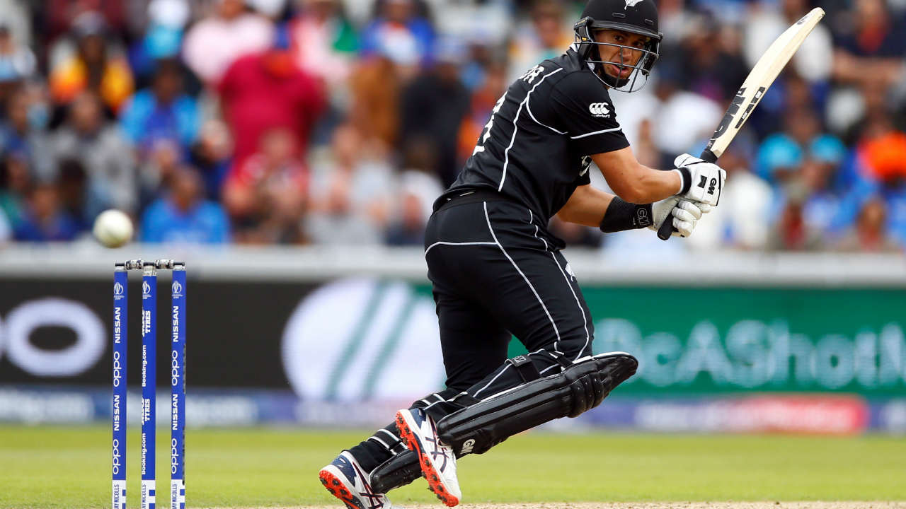 After having a slow start to his innings, Taylor reached his half-century in style as he smashed a delivery from Chahal for a six in the 44th over. (Image: Reuters)