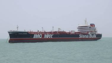 Britain says Iran approached tanker in Omani waters