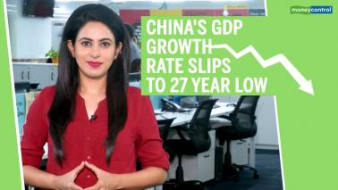 China's GDP growth rate slips to 27-year-low