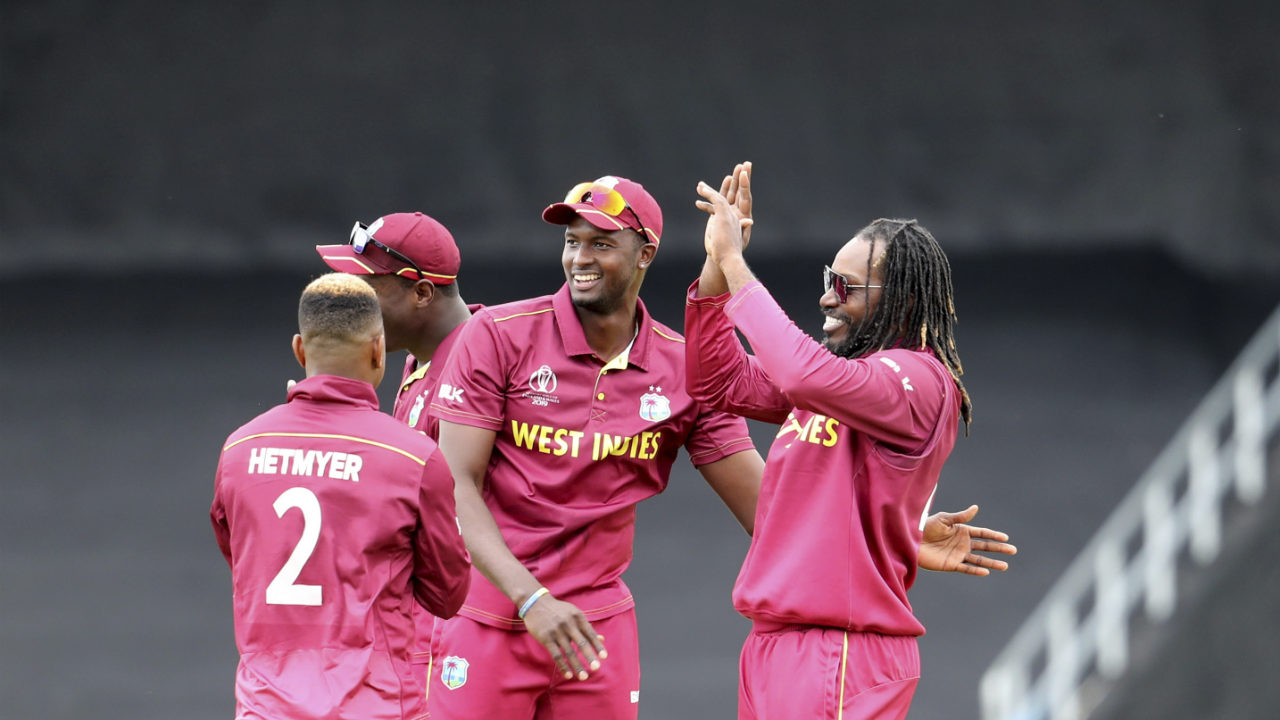 Ikram became the youngest player to register an 80+ score in World Cup history better the previous record of Sachin Tendulkar (81 v Zimbabwe at Hamilton 1992) then aged 18yrs and 318 days. He was finally dismissed LBW by Gayle in the 36th over returning with 86 off 93 balls. Najibullah (31 off 38 balls) was also run out in the same over as Afghanistan were reduced to 194/4. (Image: AP)