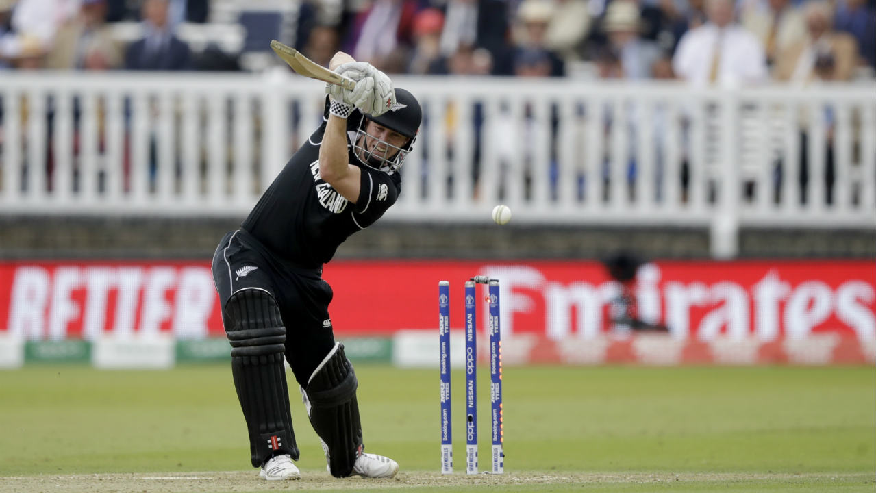 Henry Nicholls brought up his fifty off 71 balls in the 26th over. He was looking in good nick but Plunkett struck again in the 27th over as Nicholls got a thick inside edge back onto the stumps. Nicholls returned with 55 off 77 balls with New Zealand precariously placed at 118/3. (Image: AP)