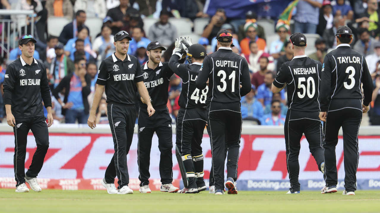 Hardik became Santner's next victim as he went for a slog-sweep in the 31st over but only send it high towards midwicket off the top-edge. Williamson backtracked from midwicket and took a good catch to dismiss the dangerous all-rounder. Hardik departed after making 32 off 62 with India placed at 92/6. (Image: AP)