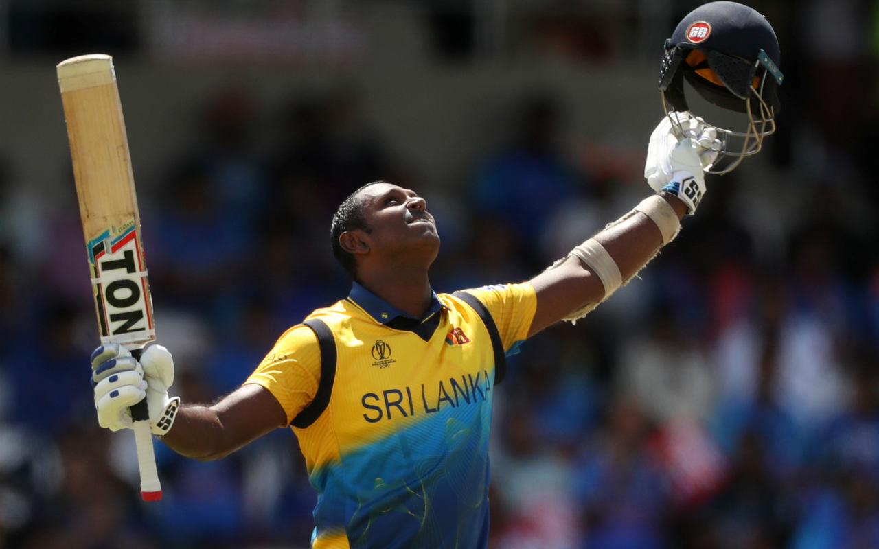 Mathews carried on at the crease and brought up his century off 115 balls in the 44th over with an upper cut to the boundary against Pandya. It was Mathews' 3rd ODI hundred and all three of his tons have come against India. (Image: AP)