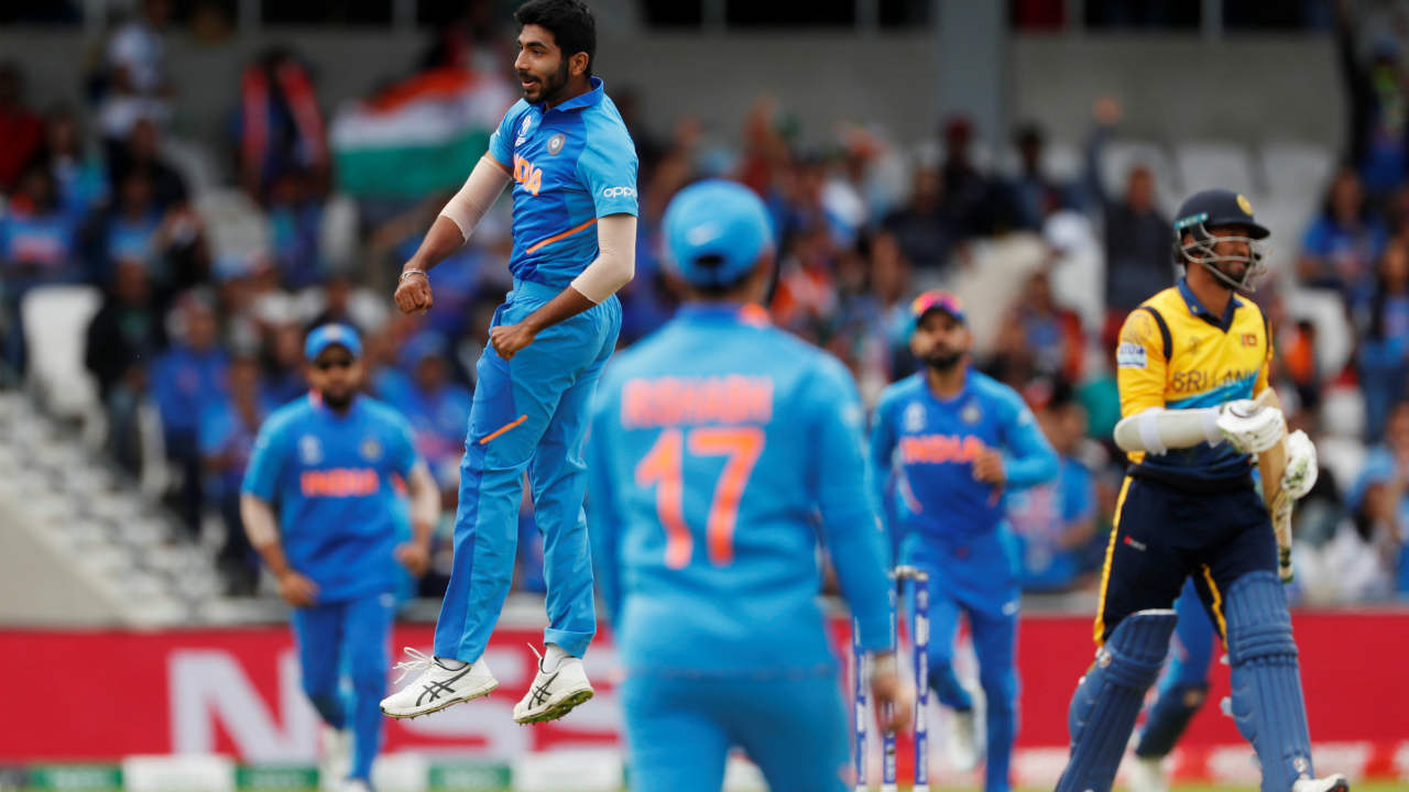 The Men in Blue were off to a flying start as its pace spearhead Jasprit Bumrah removed Dimuth Karunaratne and Kusal Perera with Sri Lankan score just reading just 40 runs. Both the Sri Lankan openers edged deliveries from Bumrah back to MS Dhoni. (Image: Reuters)