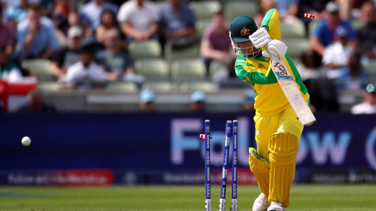 Handscomb's World Cup debut did not last long as Woakes castled the young Australian in the seventh over. Handscomb made 4 off 12 as Australia were struggling at 14/3. (Image: Reuters)