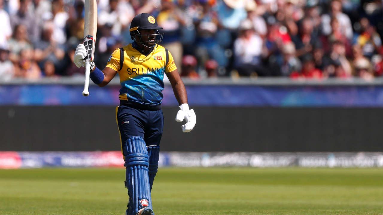 Sri Lankan opening pair of Kusal Perera and Dimuth Karunaratne put up a 93-run partnership during which Perera completed his half-century. (Image: Reuters)