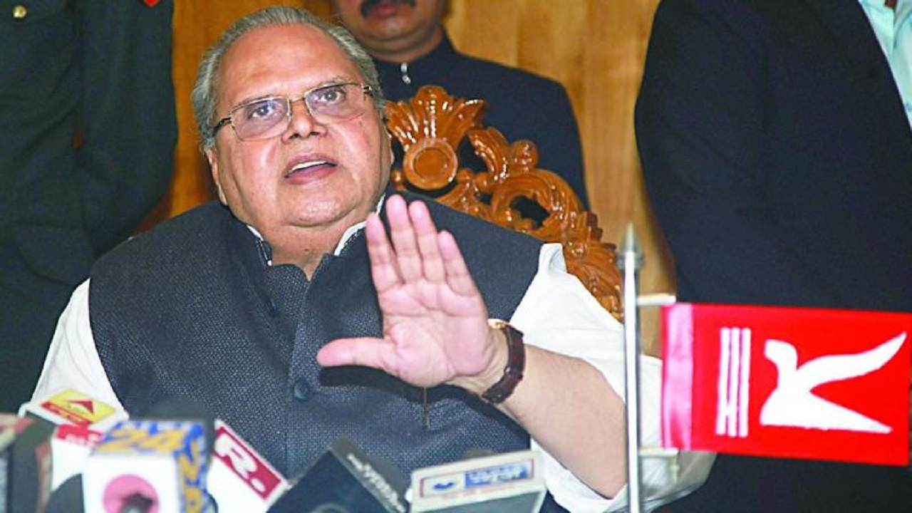 The two states will have separate Lieutenant Governors. (In this picture: Incumbent J&K Governor Satya Pal Malik)