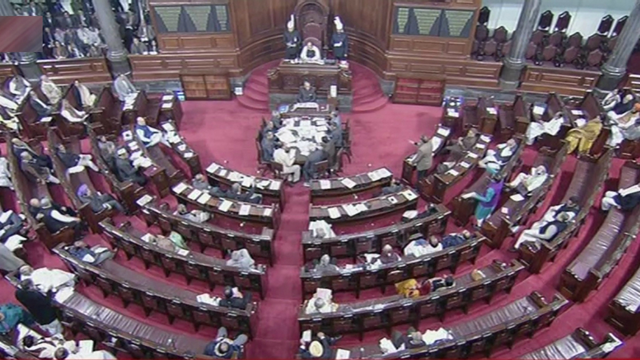 Acrimonious scenes were seen in the Rajya Sabha soon after the announcements by the Home Minister.