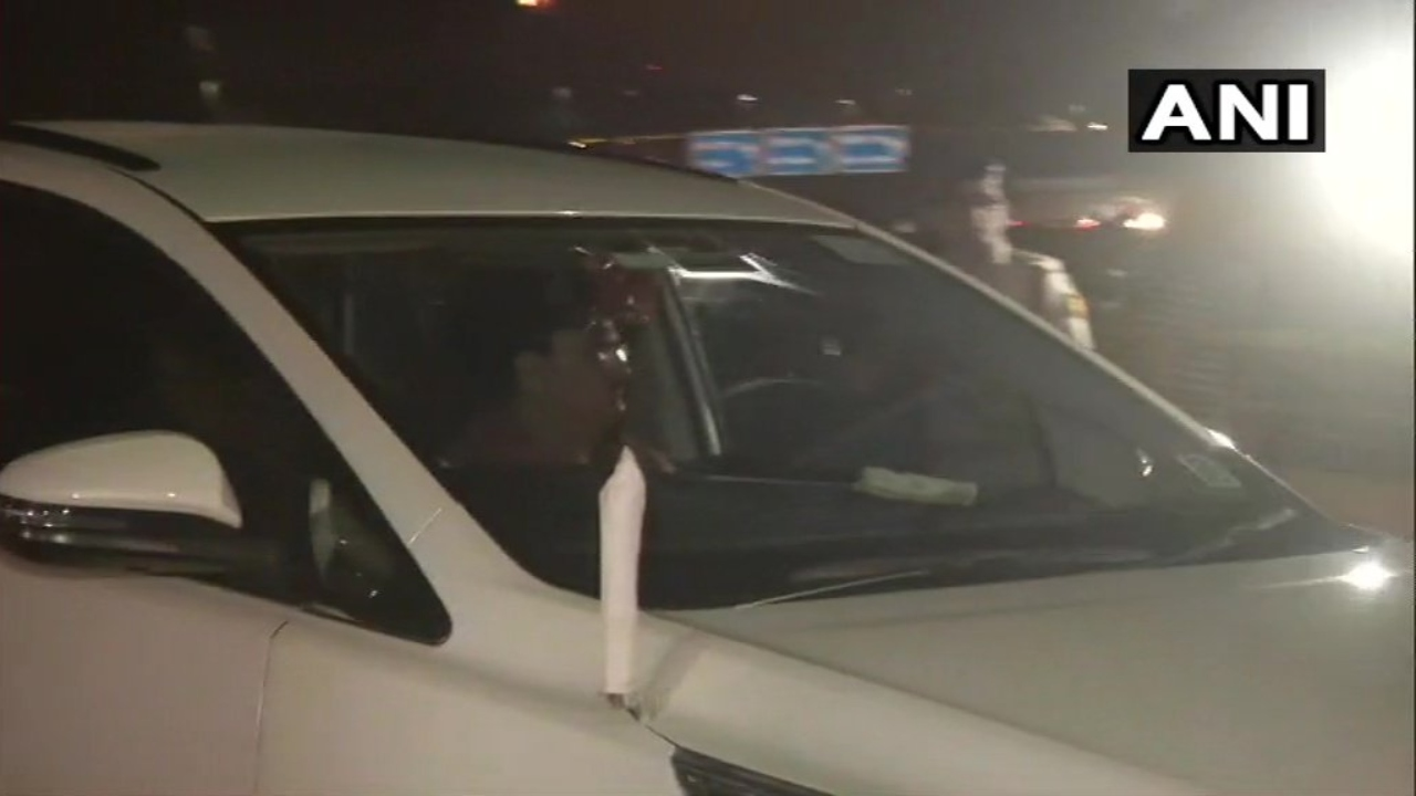 BJP Working President and former Member of Parliament JP Nadda is seen arriving at the hospital in New Delhi. (Image: ANI)