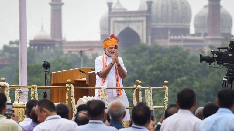 Here are key highlights from PM Modi's 73rd Independence Day speech