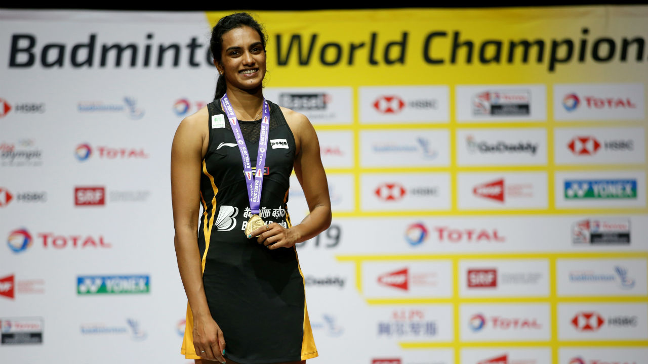 Sindhu is the first Indian singles player to clinch Gold at Badminton World Championship. Sindhu has also won two silver medal in World Badminton Championship. (Image: Reuters)
