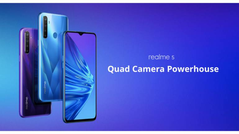 Realme 5 to go on sale every Tuesday at 12 pm on Flipkart and Realme India  website