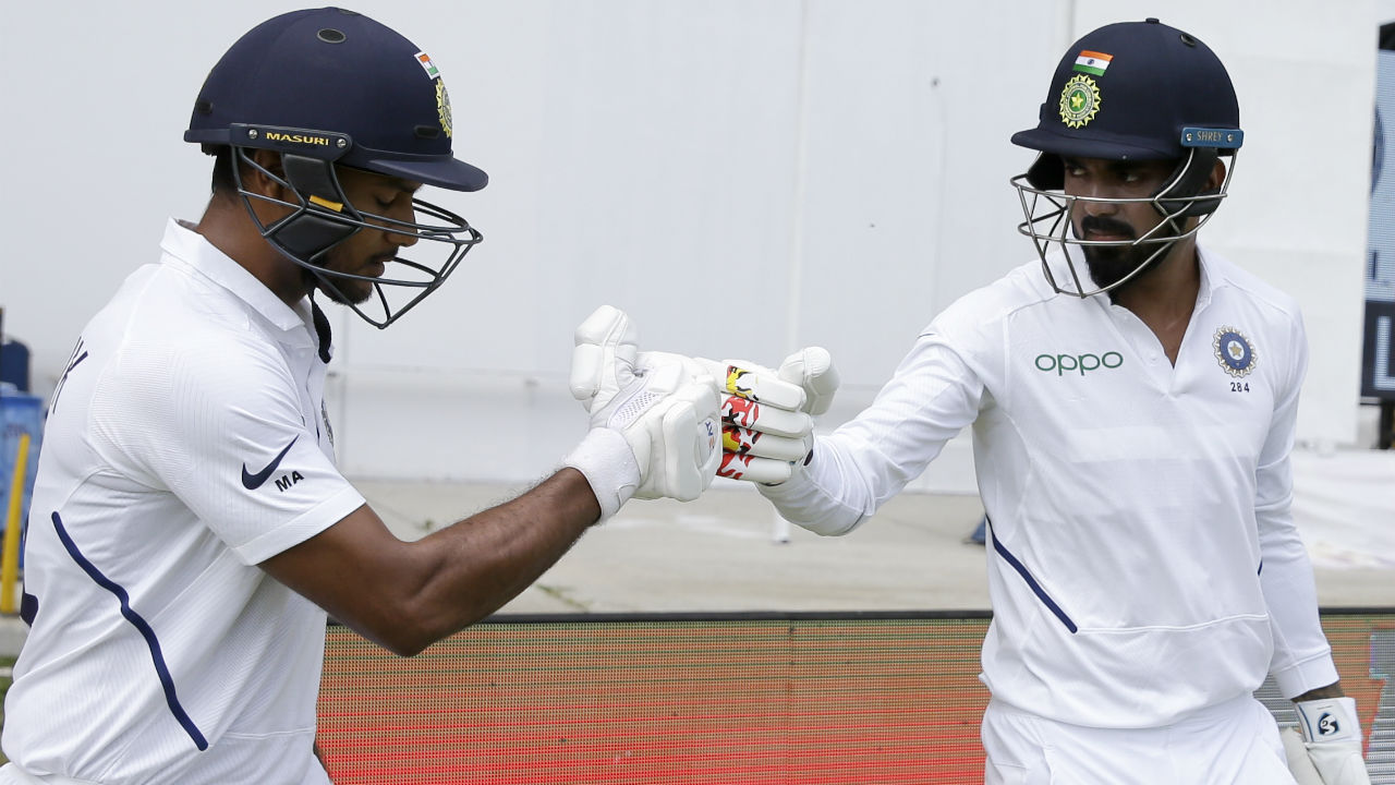 With India asked to bat first, KL Rahul and Mayank Agarwal walked out to open the batting for India. (Image: AP)