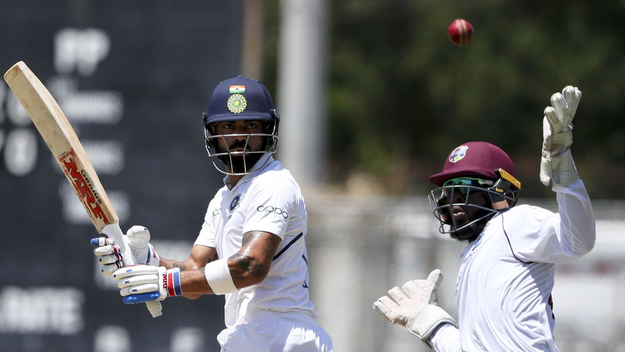 Following early loss of Rahul and Pujara, Virat Kohli and Mayank Agarwal took India to 72/2 at Lunch. Kohli was not out on 5 while Agarwal was batting on 41 from 99 deliveries. (Image: AP)