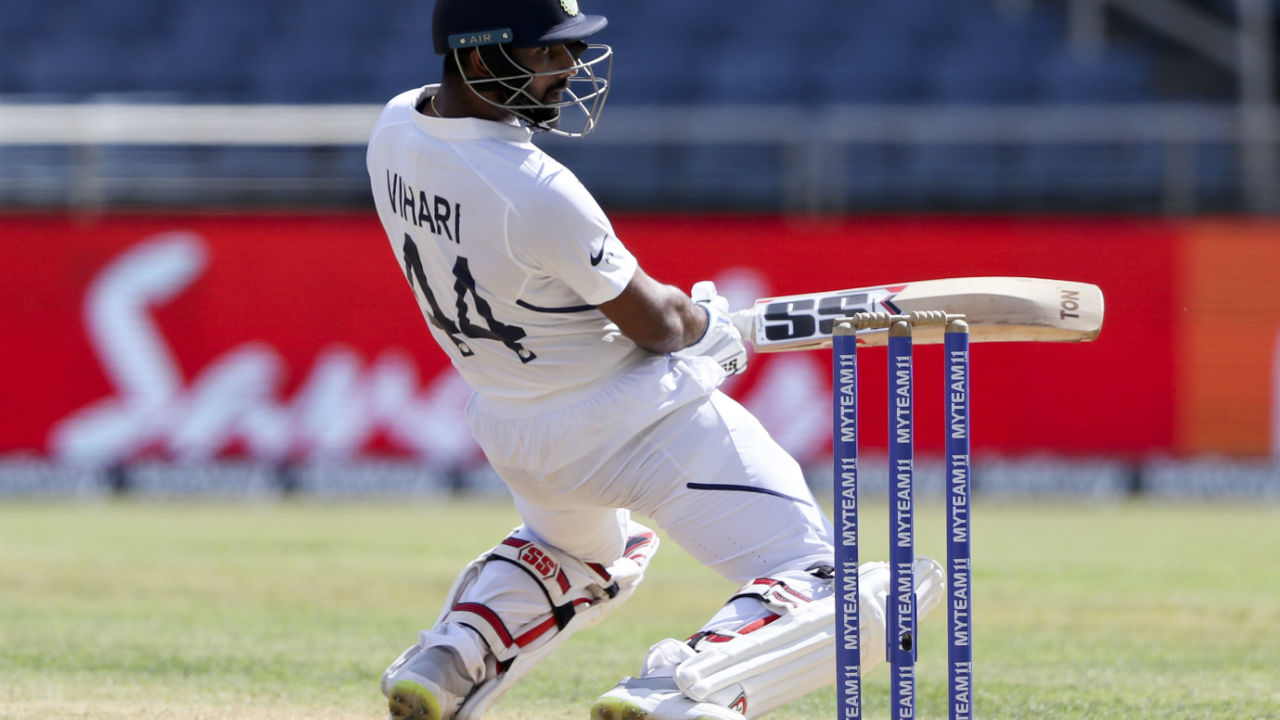 After Holder removed Kohli, Vihari put up a 50-run partnership with Rishabh Pant as India finished the day on 264/5. (Image: AP)