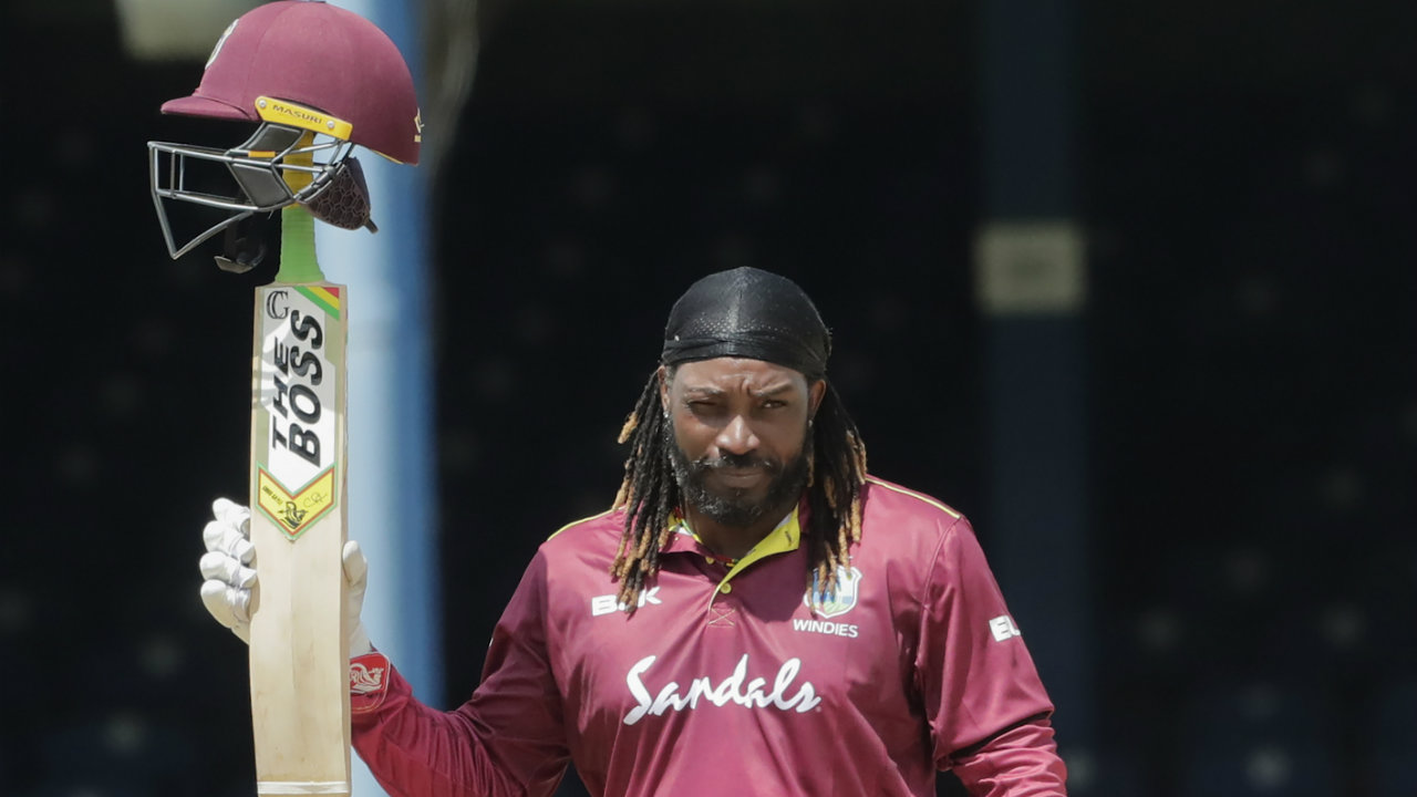The 'Universe Boss' finishes as the most capped ODI player for the West Indies having made 301 appearances breaking Brian Lara's previous record of 299 ODI caps. Gayle also finishes as the Windies' highest ODI run-scorer surpassing Lara's tally with 10408 runs to his name. (Image: AP)