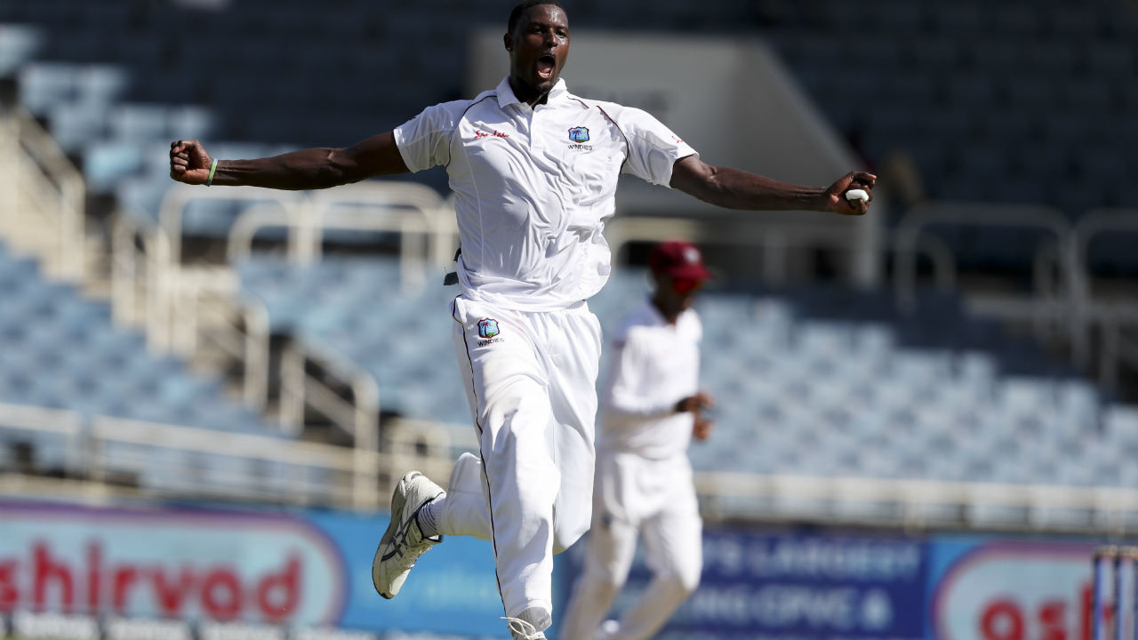 West Indies skipper Jason Holder struck with his very first delivery on Day 2 of the 2nd Test between India and Windies at Sabina Park, Jamaica. India resuming their innings on 264/5 saw the inswinging delivery ball sneak through Pant's defences to crash into the stumps. Pant returned with 27 off 65 balls. (Image: AP)