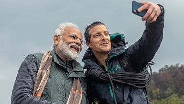 Technology helped Bear Grylls understand Hindi in 'Man Vs Wild', says PM Modi