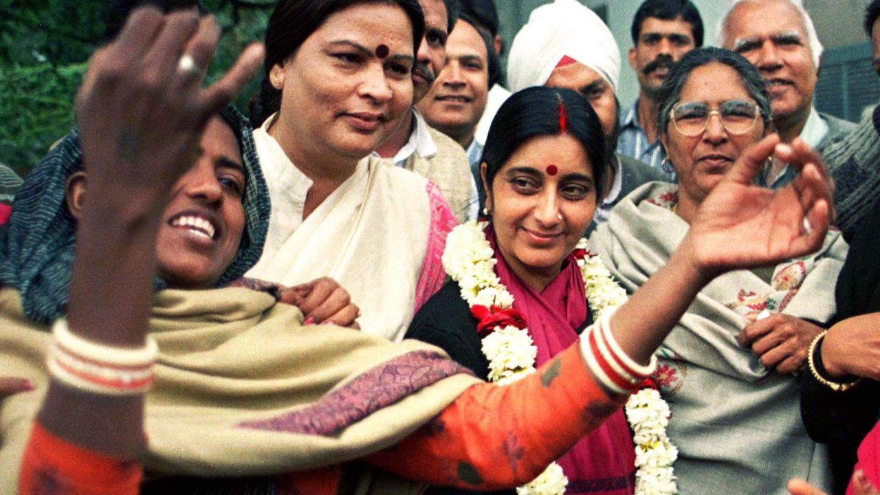 Sushma Swaraj was born on February 14, 1952 in Ambala Cantt, Haryana. Her maiden name was Sushma Sharma. However, she changed her name to Sushma Swaraj after marrying advocate Swaraj Kaushal. (Image: Reuters)