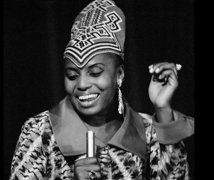 Q18. She was a South African singer, also known as Mama Africa. Levis Strauss recently came up with an ad which used a song with her name. Identify her.