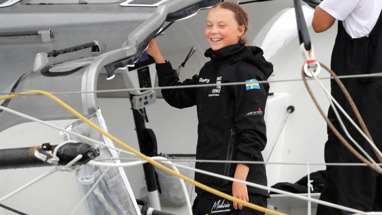 Greta Thunberg sets sail for Madrid to attend UN's climate change conference