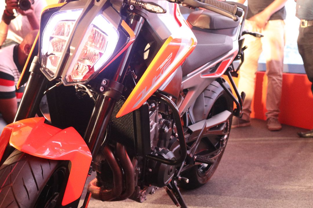 ABS is standard, of course, but gets a Bosch Inertial Measurement Unit for control in the corners. ABS is disengageable too along with KTM's famous supermoto mode that disengages ABS only at the rear wheel. (Image source: Moneycontrol)