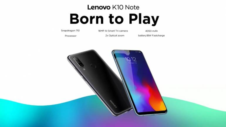 Lenovo K10 Note and A6 Note specs confirmed through Flipkart listing