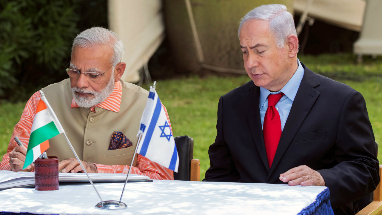 2017: Becomes the first Indian PM to visit Israel (Image: Reuters)