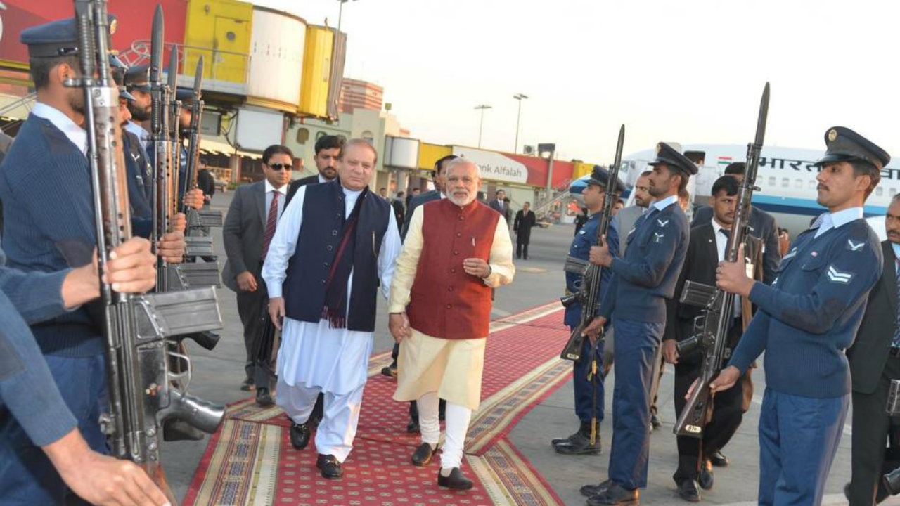 2015: In a surprise visit to Pakistan, Modi met Pakistan Prime Minister Nawaz Sharif. Modi became the first PM to visit Pakistan in 12 years (Image: Reuters)