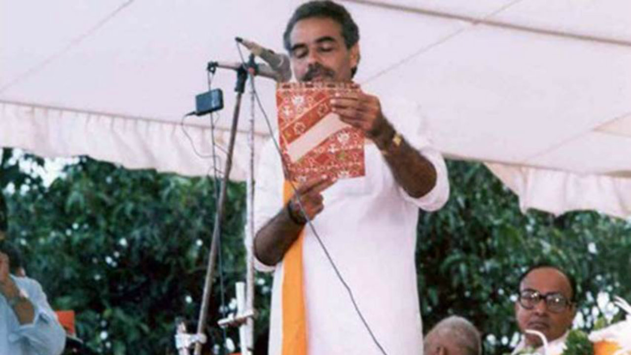 1987: Modi marked his entry into mainstream politics by joining the Bharatiya Janata Party (BJP). In BJP, his rise was meteoric. He was made the organisation secretary of Gujarat unit in 1987 itself, followed by his appointment as the BJP national secretary in 1995 and the party's national general secretary in 1998. (Image: narendramodi.in)