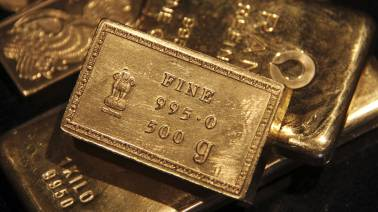 Gold slips for 5th day at Rs 39,634 per 10 grams, silver down Rs 430 to 45,835 per kg