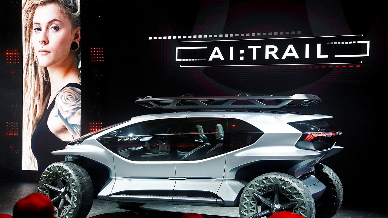 Audi AI:TRAIL is pictured at the 2019 Frankfurt Motor Show.