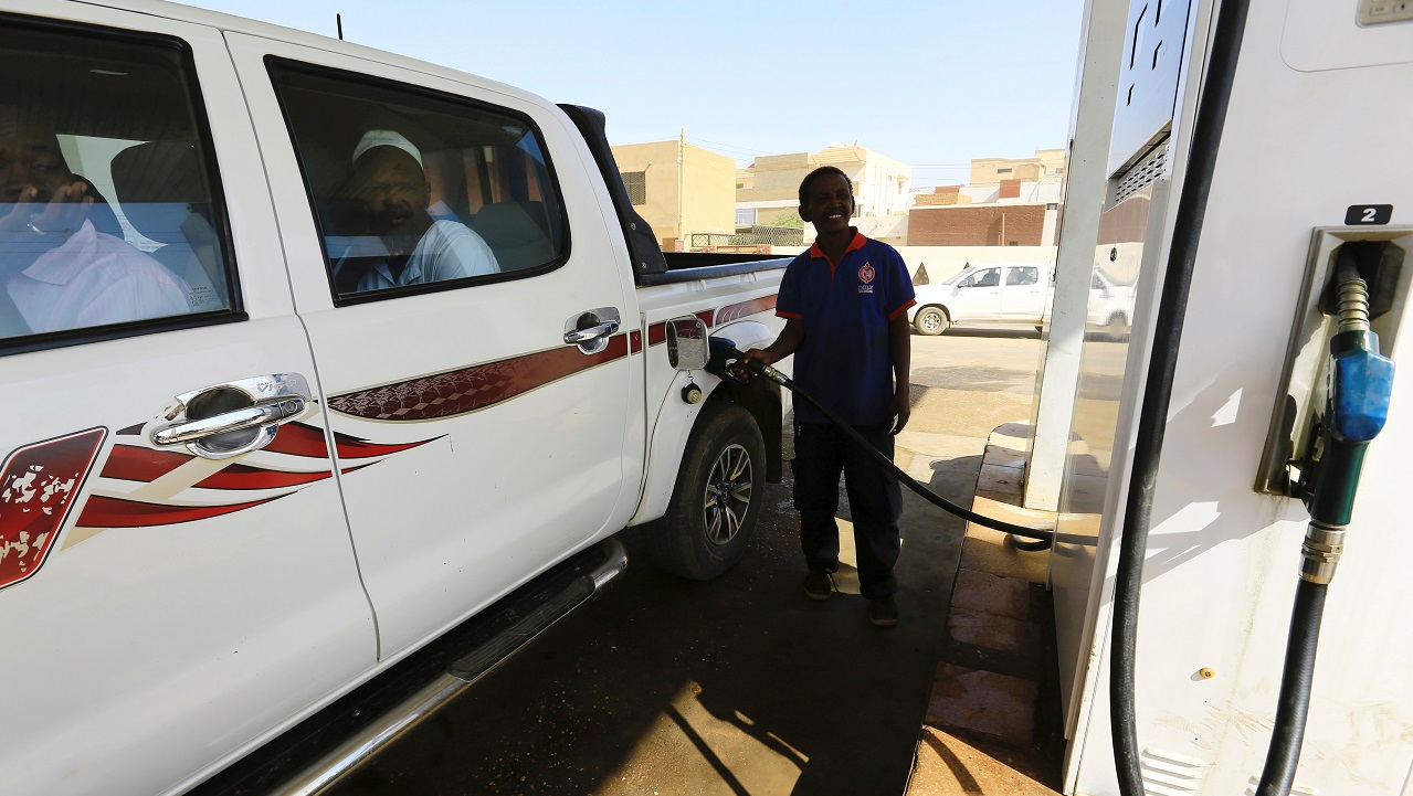 Sudan | Cost per litre – Rs 9.93 |People get their car filled at a petrol station in Khartoum. (Image: Reuters)