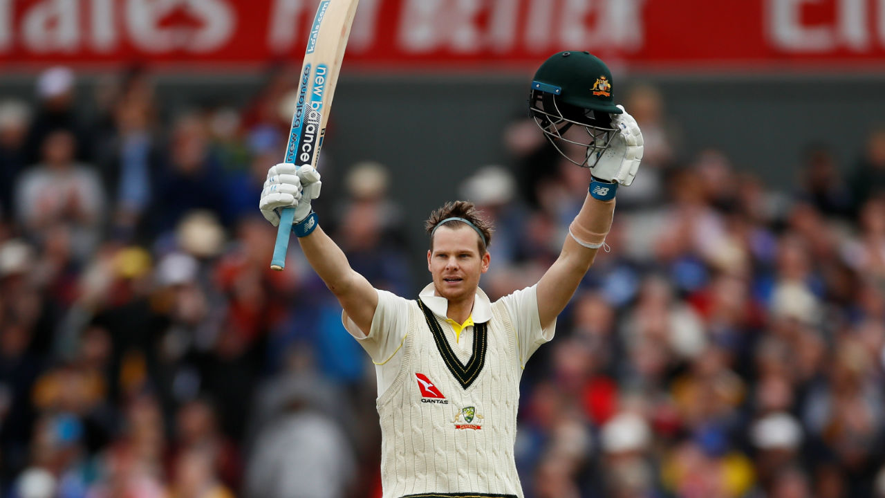 Smith, with 11 Test hundreds, makes him the Aussies with second highest Ashes tons. Bradman is first with 19 tons against his name. (Image: Reuters)