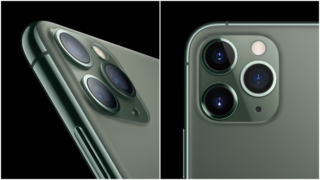 The biggest upgrade in this year's iPhone is the camera. The iPhone 11 Pro and 11 Pro Max feature a triple 12MP camera setup with a wide, ultra-wide, telephoto lens setup. (Image: Apple)