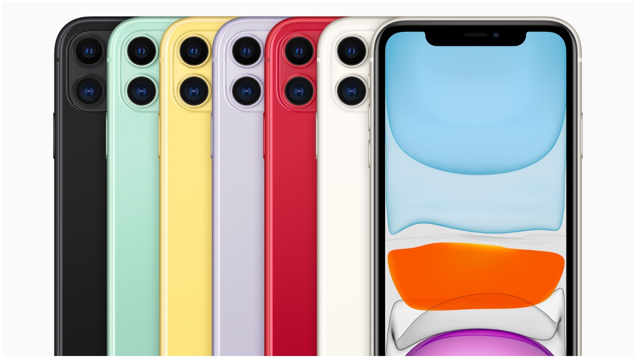 iPhone 11 comes in six new colours, namely White, Black, Purple, Product (Red), Yellow and Green. It is priced at Rs 64,900 and goes on sale starting September 27 in India. (Image: Apple)