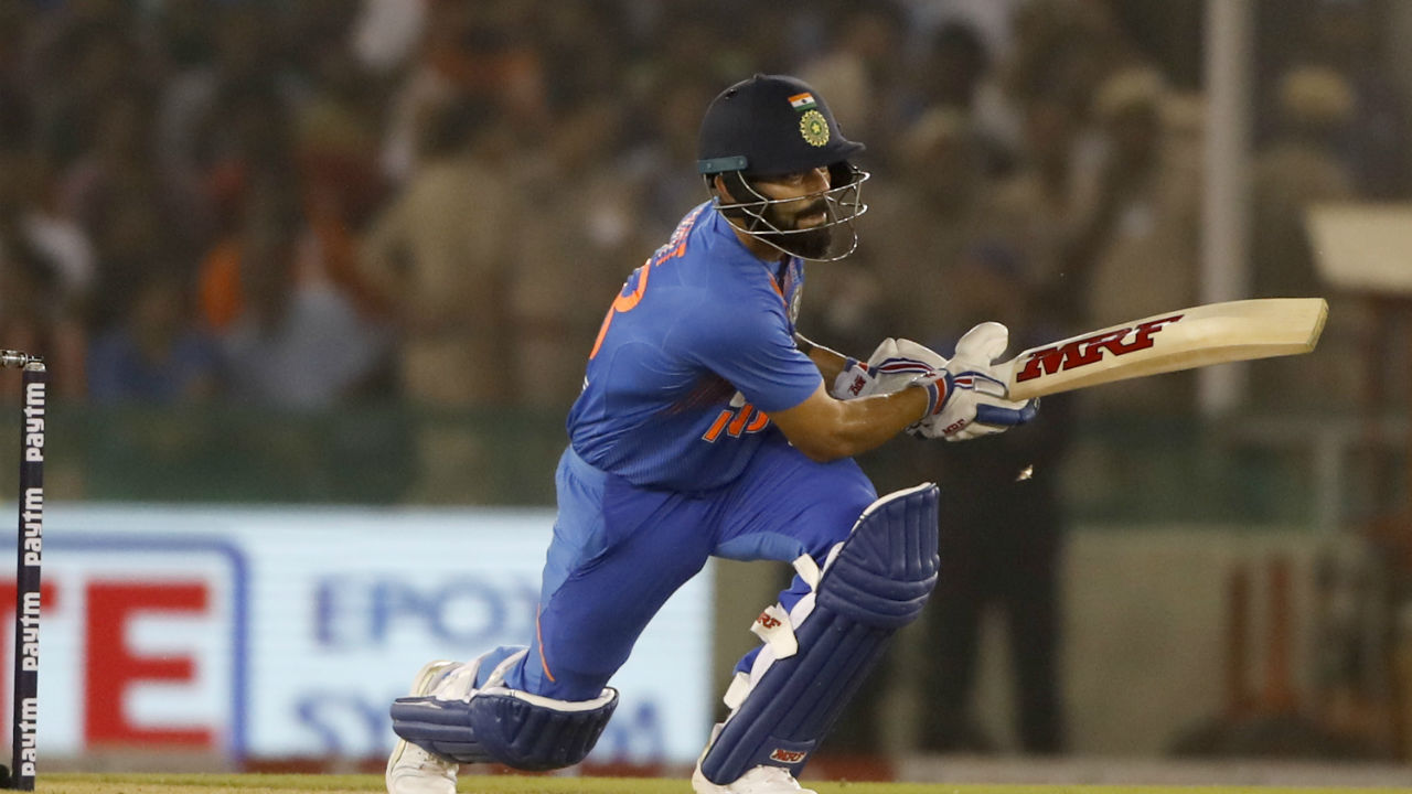 Kohli hit ball all round the park and reached his 22nd T20I fifty in the 17th over. (Image: AP)