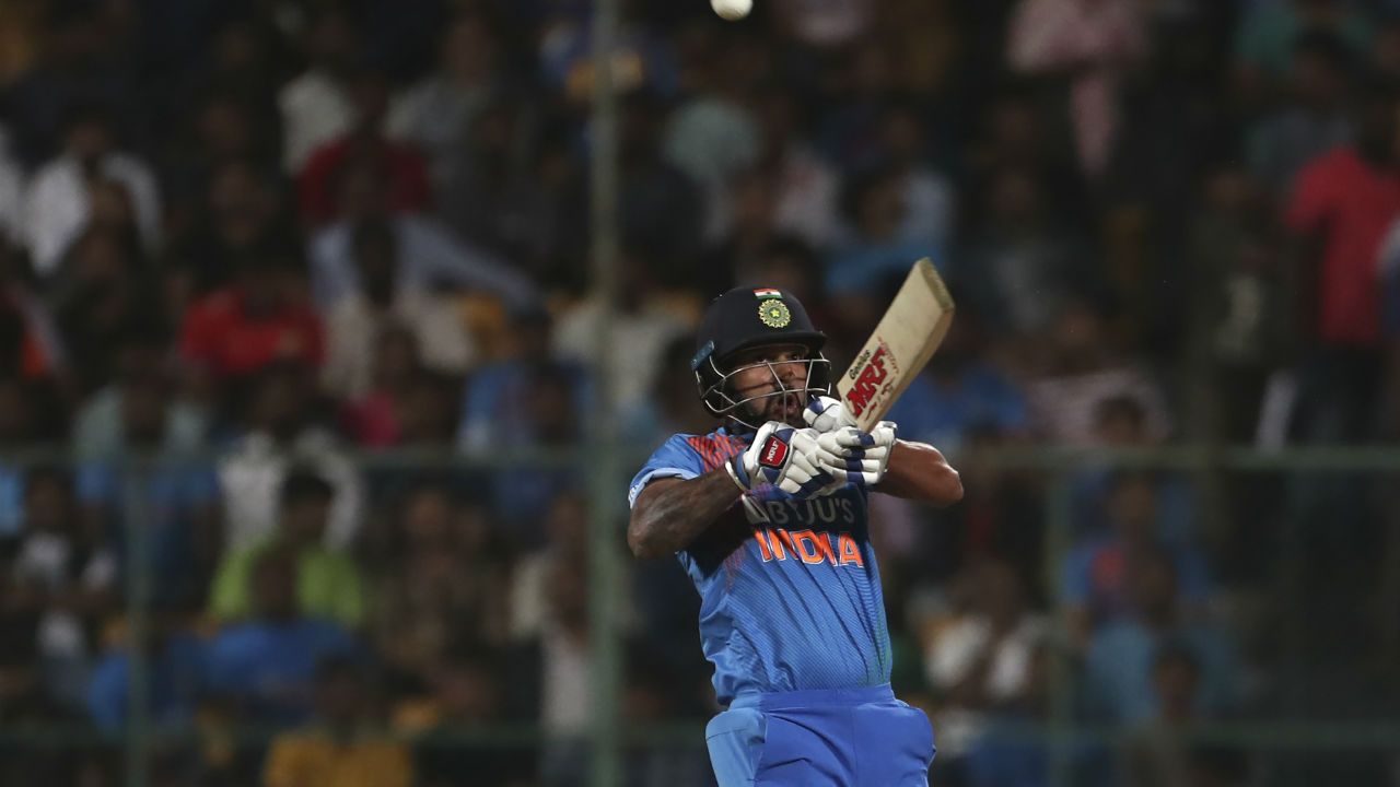 The home side were off to a fast start as the openers Shikhar Dhawan and Rohit Sharma hit 22 runs off first 2 overs. Dhawan did most of the hitting in opening spell. (Image: AP)