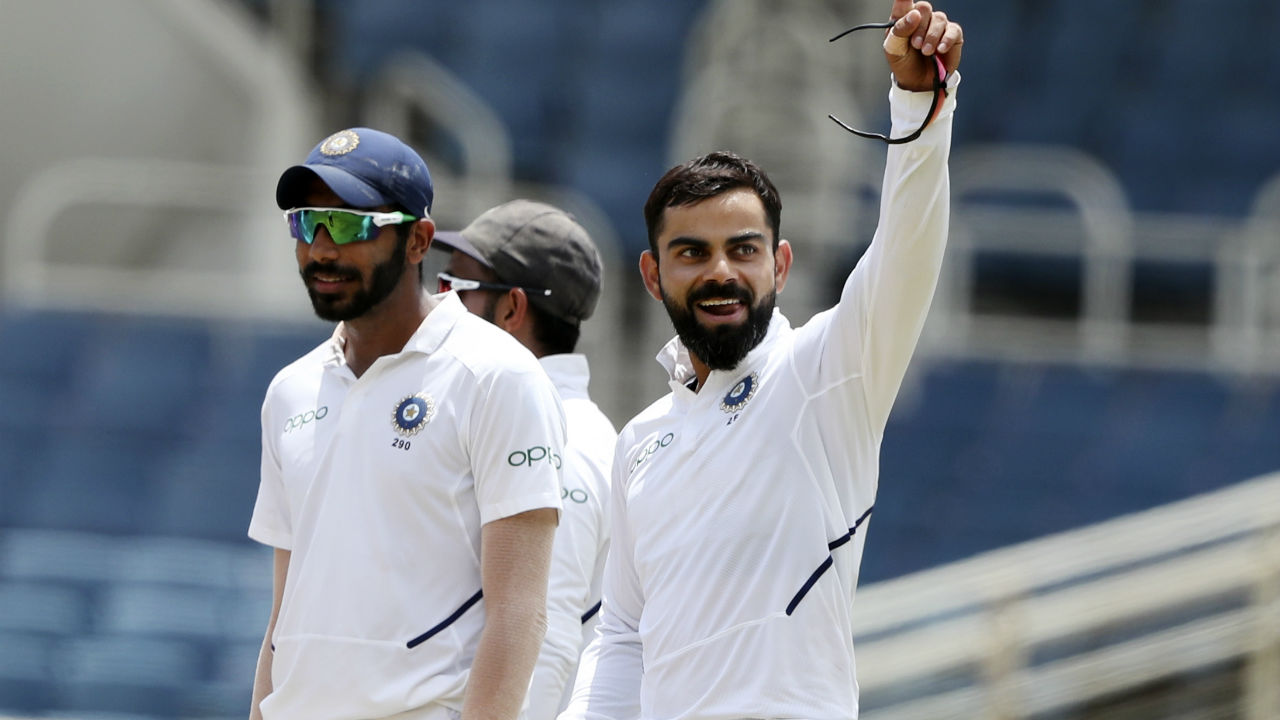 Soon, a brilliant piece of fielding and a direct hit from Kohli caught Brooks short of his crease. Brooks returned to pavilion after completing his maiden Test half-century. (Image: AP)