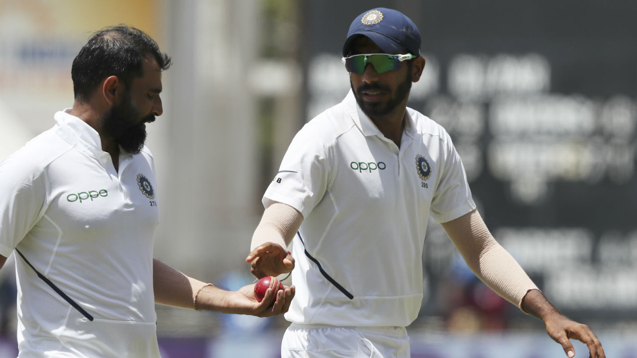Soon Mohammed Shami joined the party as he accounted for the wickets of Rahkeem Cornwall and Kemar Roach. Cornwall made 1 and Roach made 5 as West Indies were 206/9 at fall of Roach's wicket. (Image: AP)
