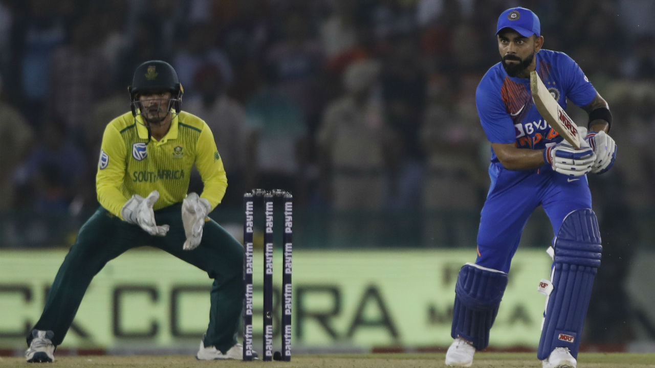Kohli remained unbeaten on 72 as Shreyas Iyer hit a boundary on last delivery of the 19th over as India sealed a comfortable win by 7 wickets. (Image: AP)