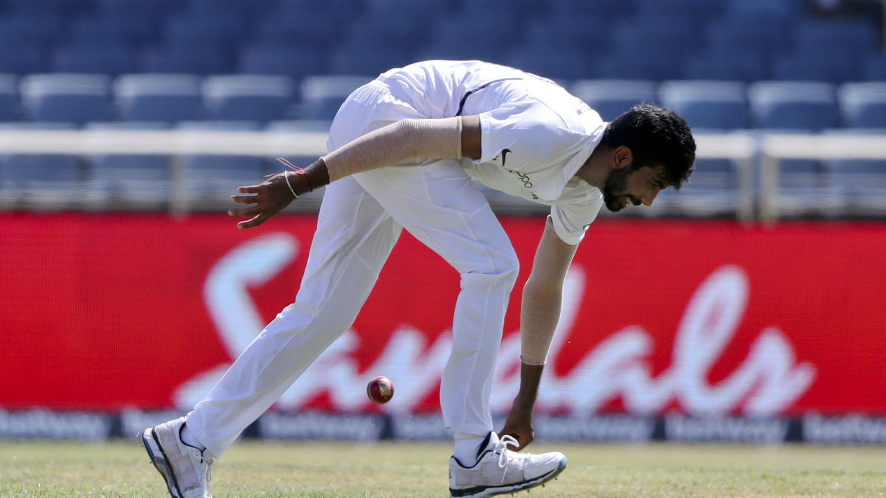 Bumrah thus became third India to take a Test hat-trick, joining Harbhajan Singh (2001 v Australia) and Irfan Pathan (2006 v Pakistan). (Image: AP)